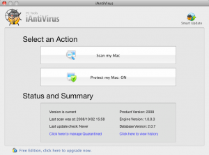 iAntivirus - hlavní strana
