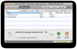 Disk Drill - skenování