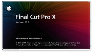 Final Cut Pro X - splash screen