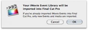 Final Cut Pro X - import