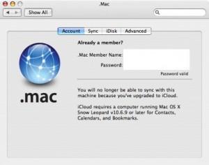 Mac OS X 10.6.9 - iCloud