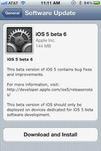 iOS 5 - beta 6