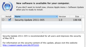 Security Update 2011-005
