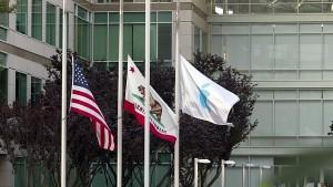 Steve Jobse - umrti (vlajky)