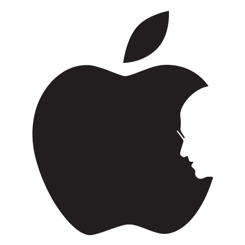 Steve Jobs Apple Logo (negativ)