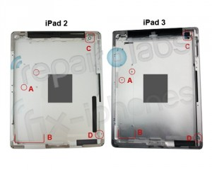 iPad 2 a iPad 3 - srovnání zadního krytu