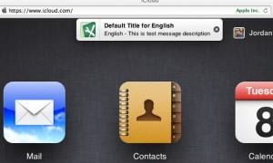 Notifikace na iCloud