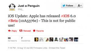 iOS 6b4 (tweet)