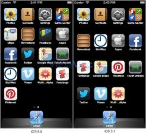 iOS - porovnání verzí 5 a 6